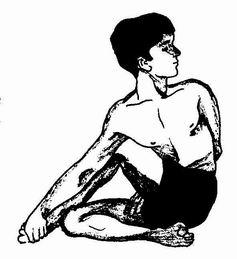 Ардха Матсиендрасана ( половинное скручивание позвоночника)