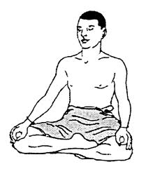 сидхасана (поза адепта) поза йоги